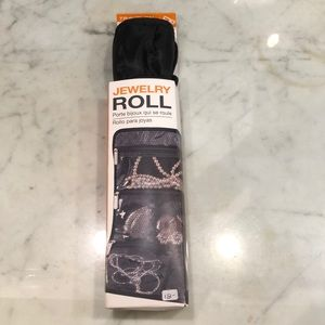 Black Travel jewelry roll